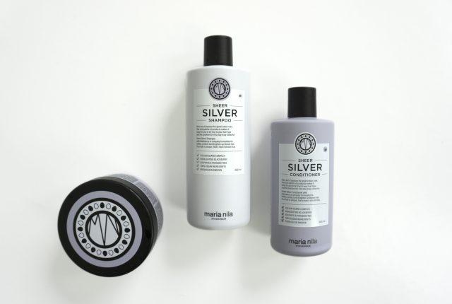 Maria Nila haircare: Sheer Silver.