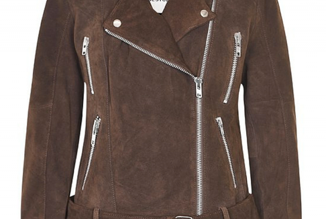 Pick of the day: suede biker.