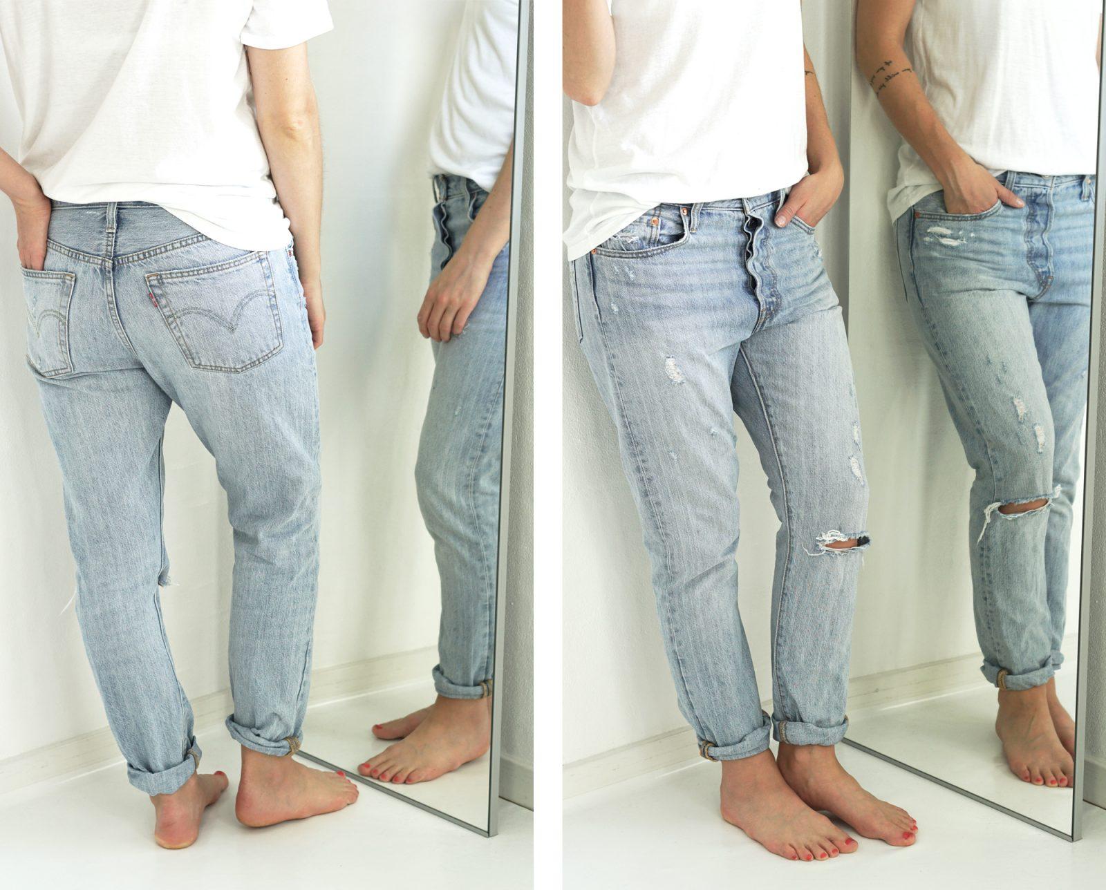 sorte jeans med huller