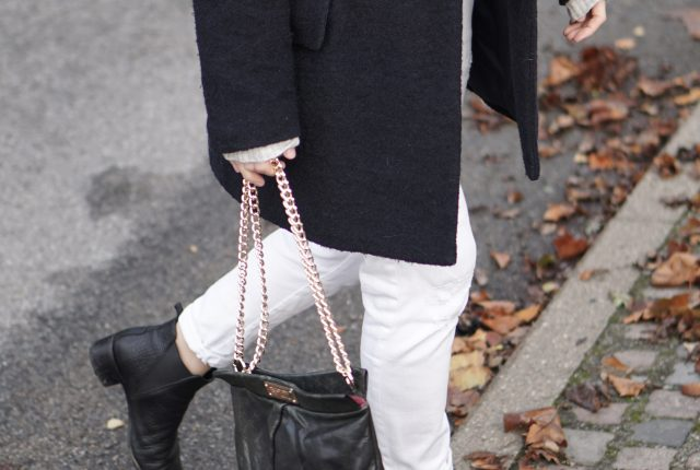 Styling white jeans for autumn & winter.