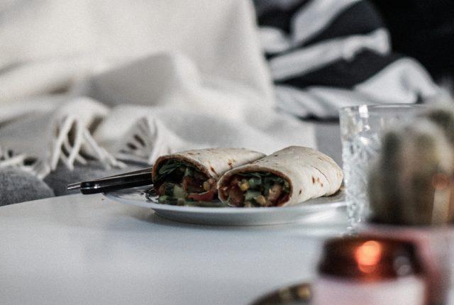 Homemade tortilla wraps