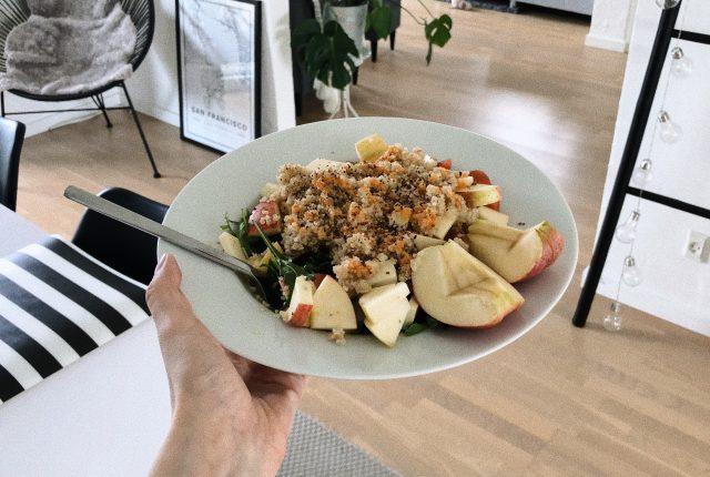 Easy and delicious quinoa salad.
