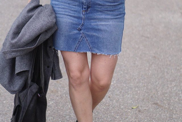 From old jeans to denim skirt.