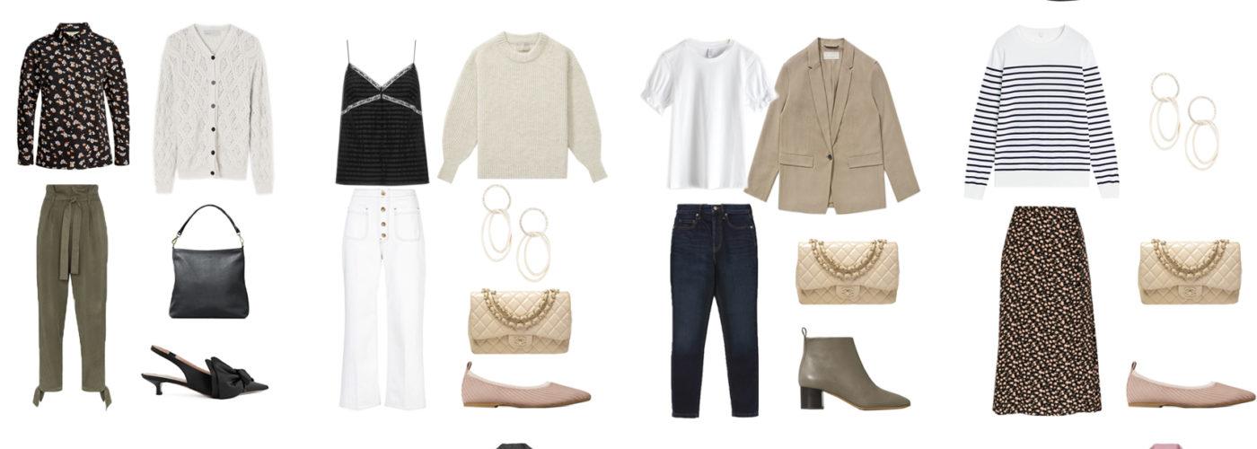 A feminine capsule wardrobe: how-to & example